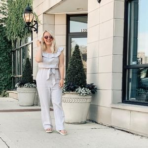 Off the Shoulder Full Relaxed Fit Jumpsuit